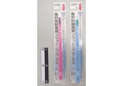 Dentist recommended toothbrush thin top regular made in Japan