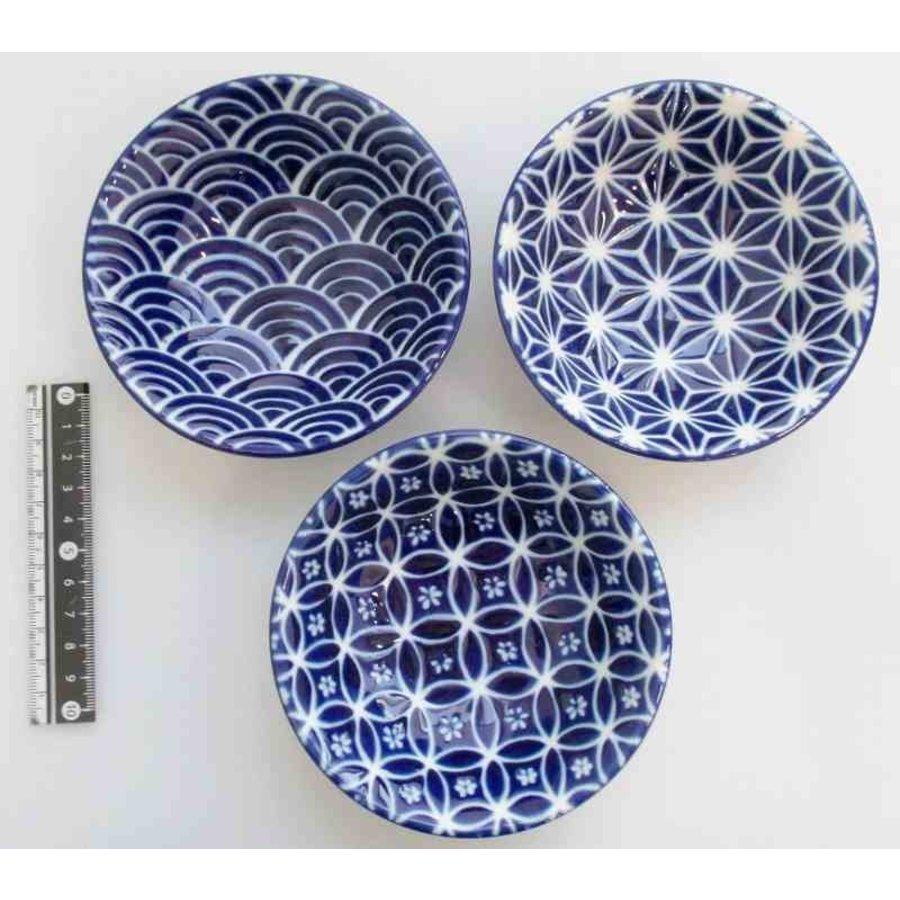 3.3 shallow bowl azure blue small pattern-1