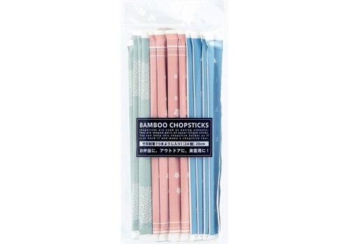 Bamboo chopsticks 24 prs Japanese traditional pattern
