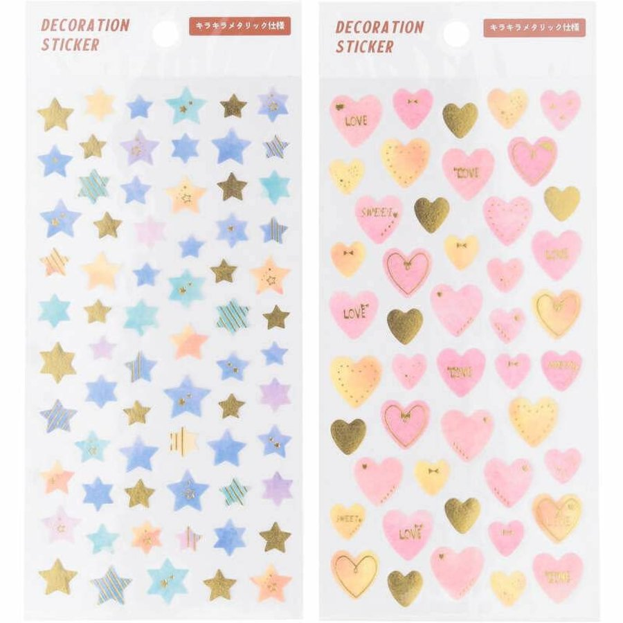 Decoration seal star&heart-1