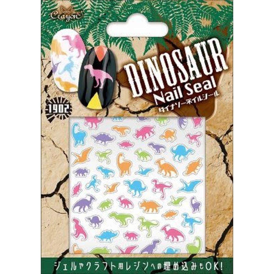 Dinosaur nail seal colorful dino-1