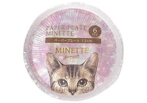 ?Paper plate Minette 13cm 6p