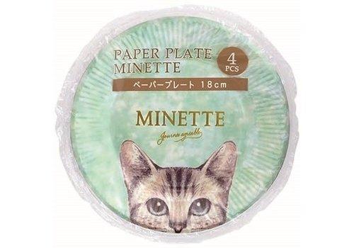 ?Paper plate Minette 18cm 4p