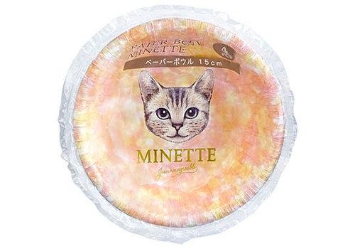 Paper bowl Minette 15cm 4p