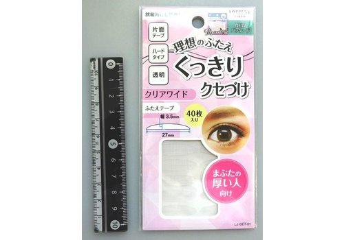 LJ double-edged eyelid tape 01 clear wide