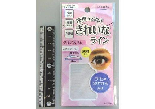 LJ double-edged eyelid tape 03 clear slim