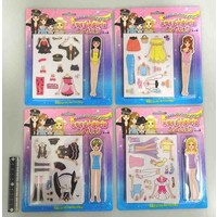 Dress-up girl magnetic