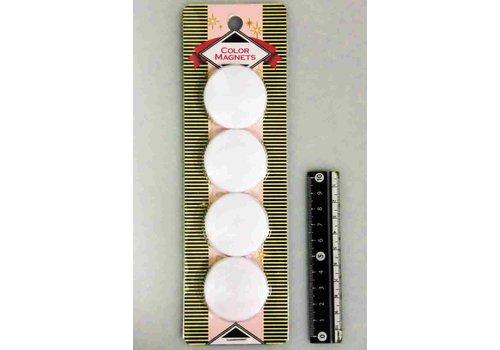 Color magnet 40mm white 4p