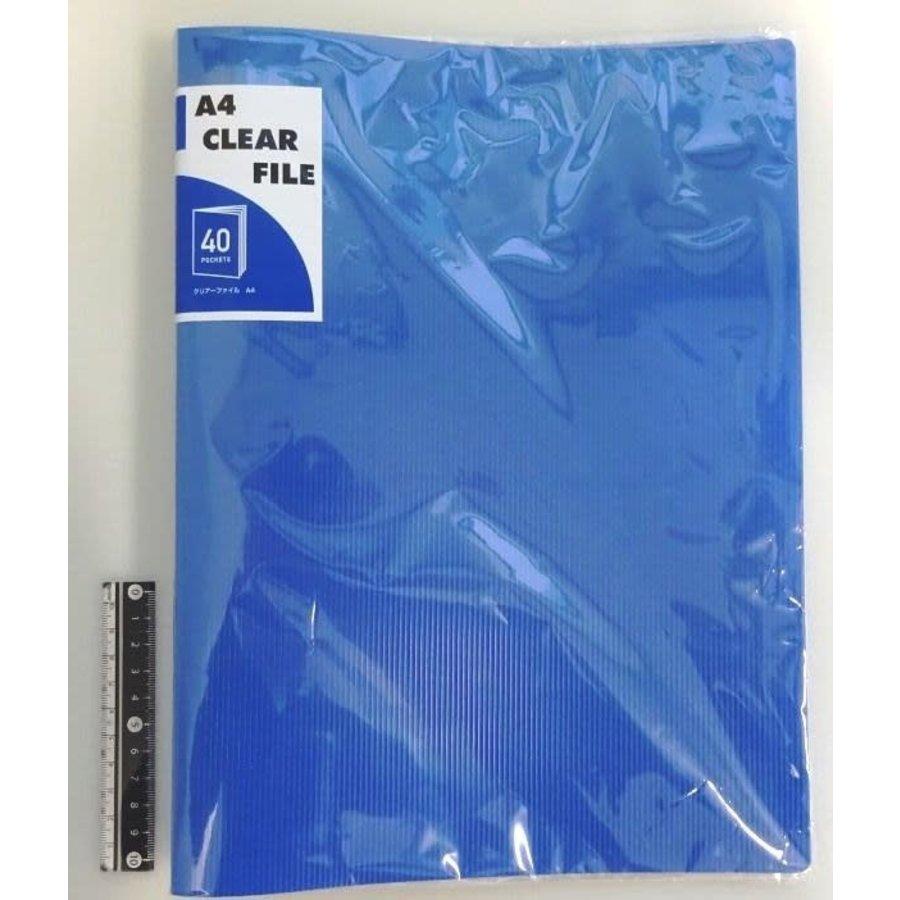 #A4 clear file 40p BL-1