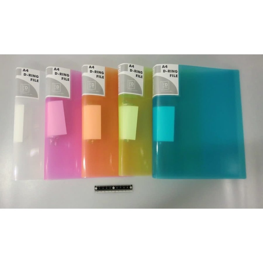 A4 ring file 40mm pitch clear color AST-1