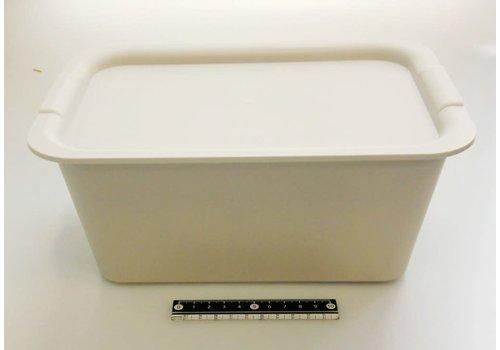 Plain box M size set light gray