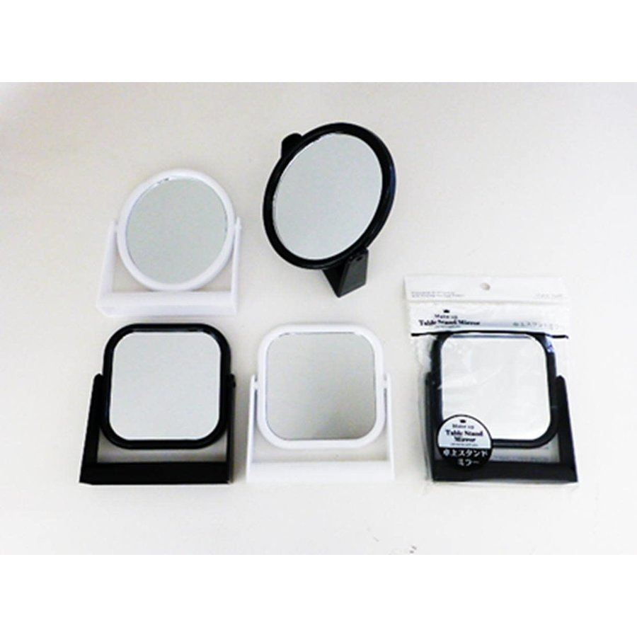 Desk top stand mirror square/round-1