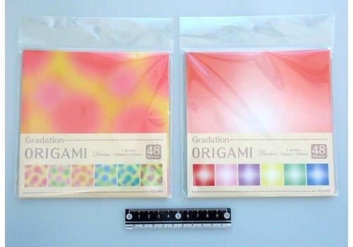 Gradation origami paper assort M 48p