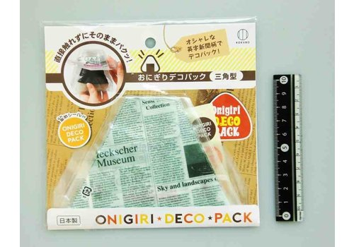 ?Rice ball decoration pack triangle English news paper