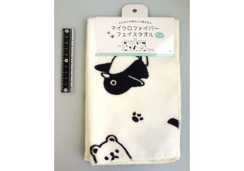 Microfiber face towel animal