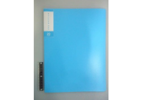 FCS A4 clear file 20p light blue