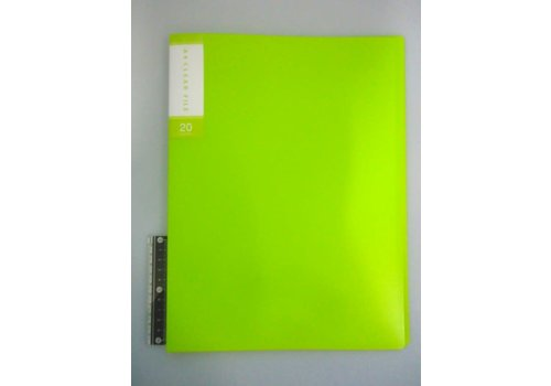 FCS A4 clear file 20p light green