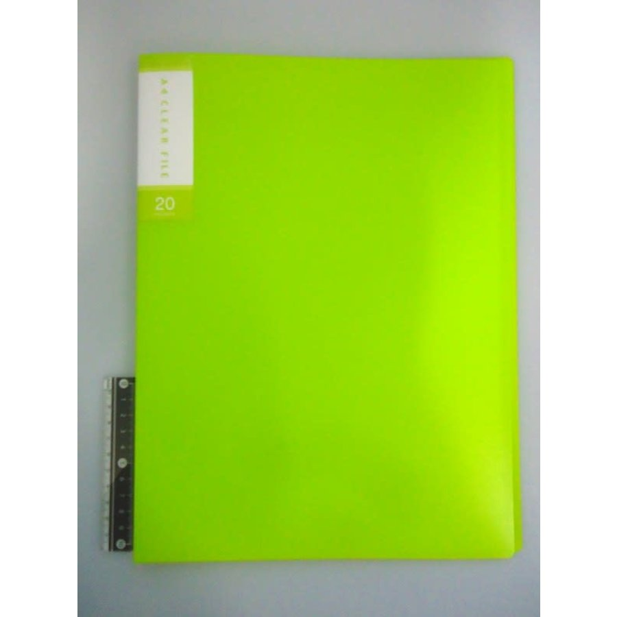 FCS A4 clear file 20p light green-1