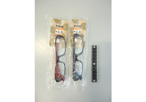 Plastic reading glasses color +3.0