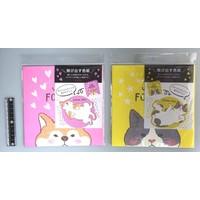 Folding autograph plate pop-up animals