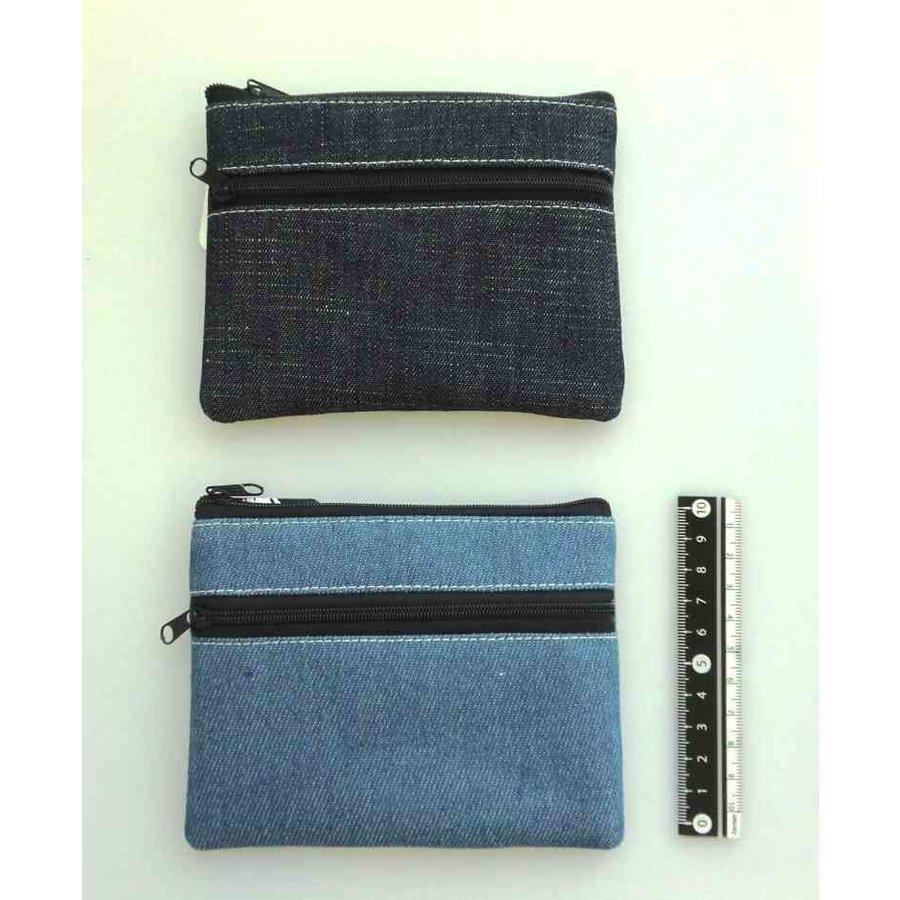 Denim W fastener pouch : PB-1