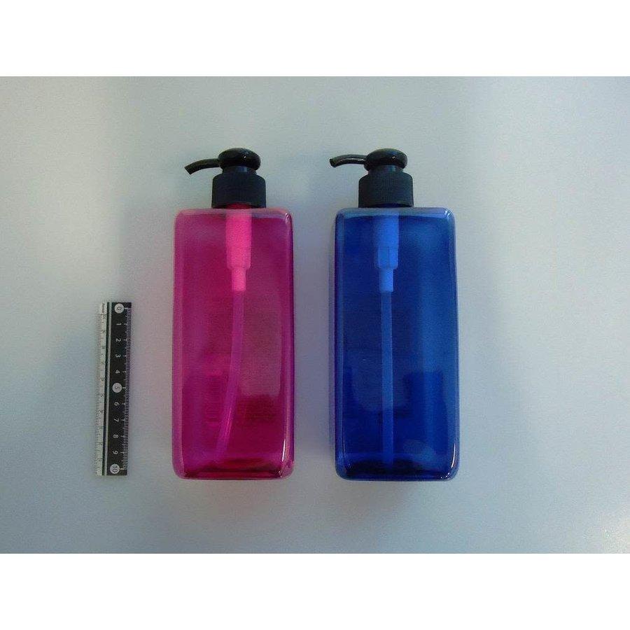 Clear color square bottle 510ml : PB-1