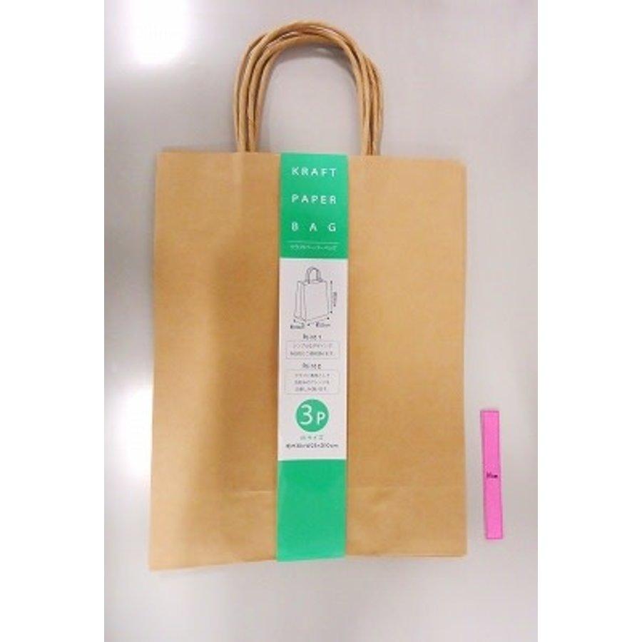 Craft paper bag M 3p-1