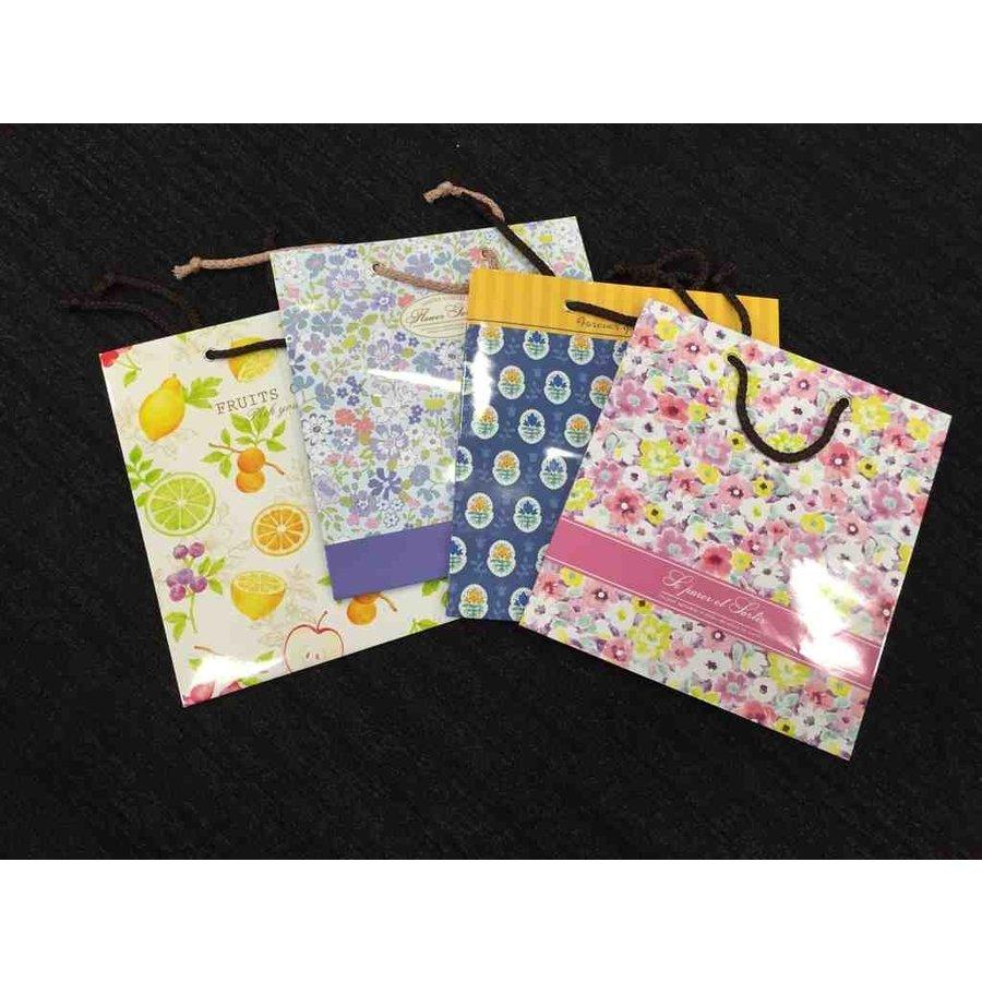 Paper bag M flower-1