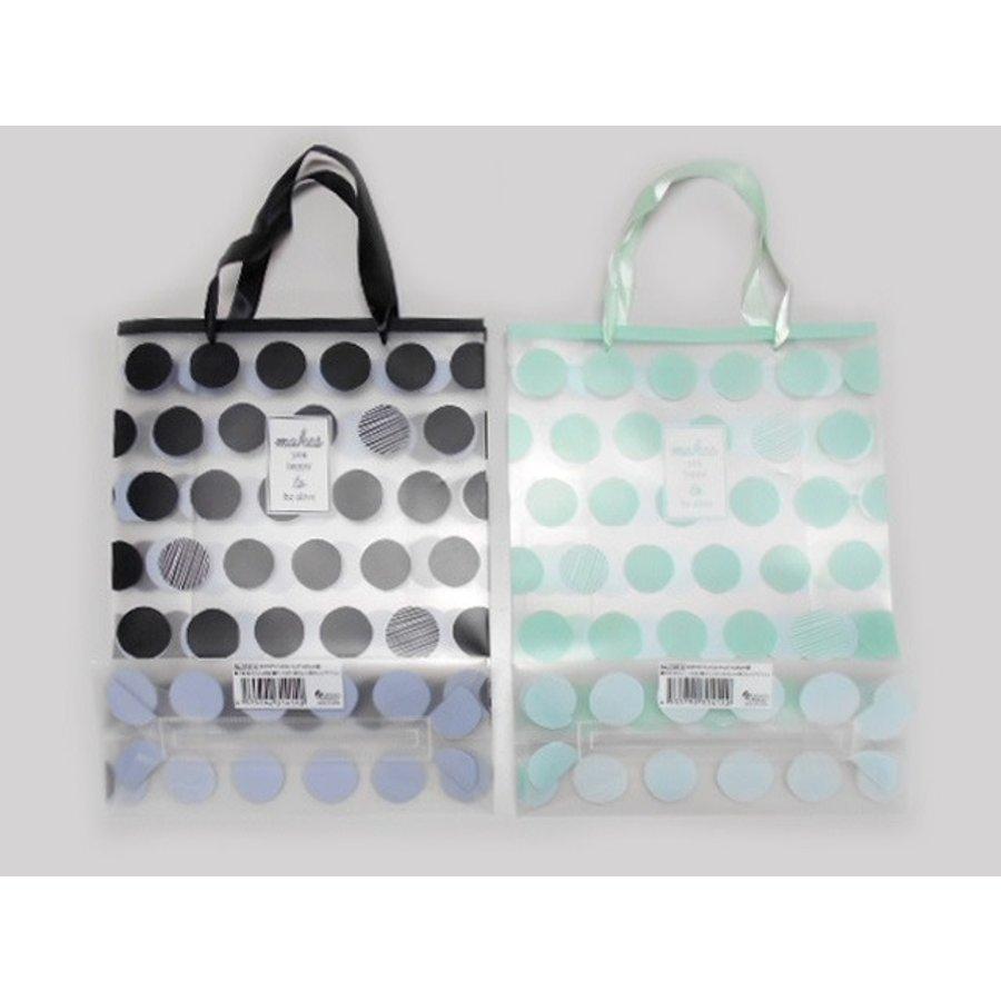 ?Clear handle bag M dot-1