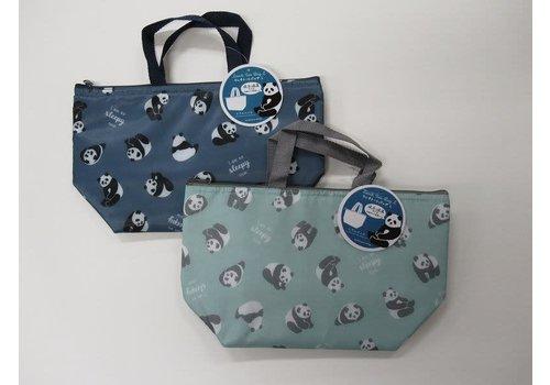 Panda logo pattern aluminum tote bag L