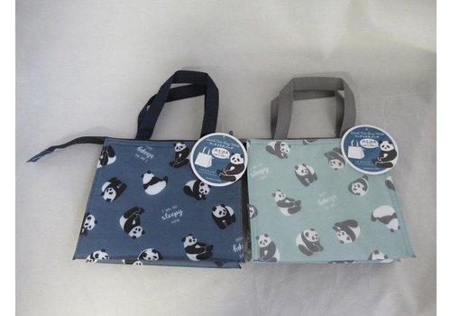 Panda logo pattern aluminum gusset wide bag