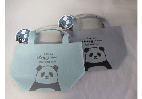 Panda logo pattern lunch tote bag