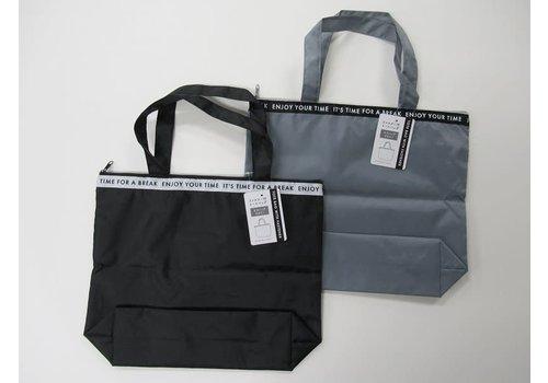 Belt logo pattern with zipper tote bag