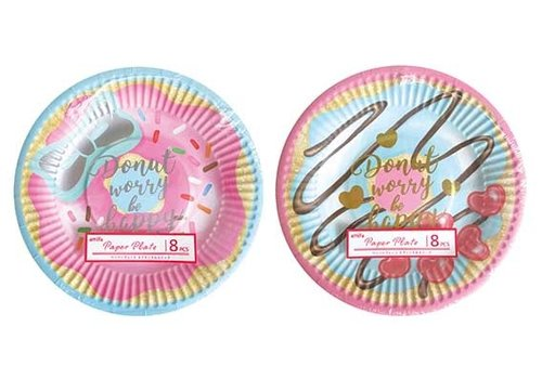 SC) Paper plate 8P sweets