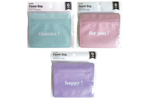 Zip bag 6P matte color