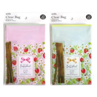 Clear bag S10P strawberry pattern