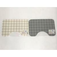 Easy wipeable toilet mat