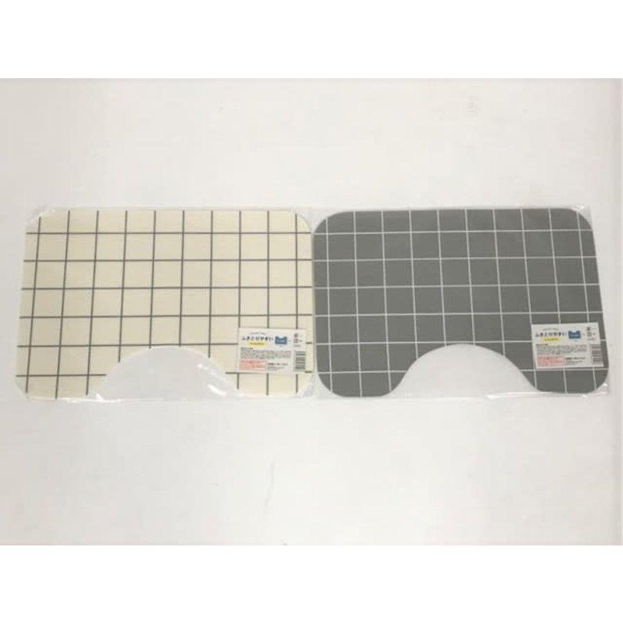 Easy wipeable toilet mat-1