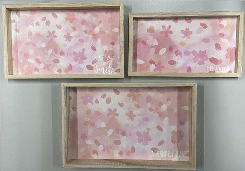 Wooden tray (cherry blossom)