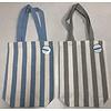 Cotton tote bag stripe vertical