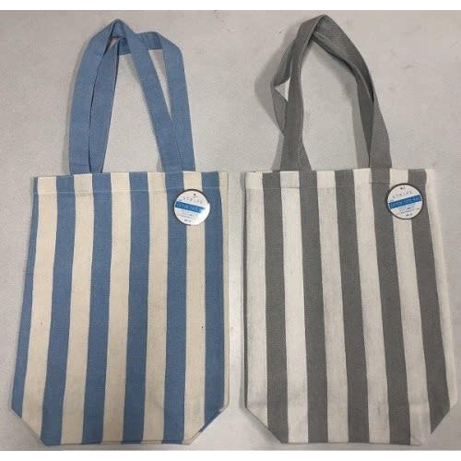 Cotton tote bag stripe vertical-1