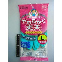 ?Dunlope soft and taugh rubber gloves middle thik L GR