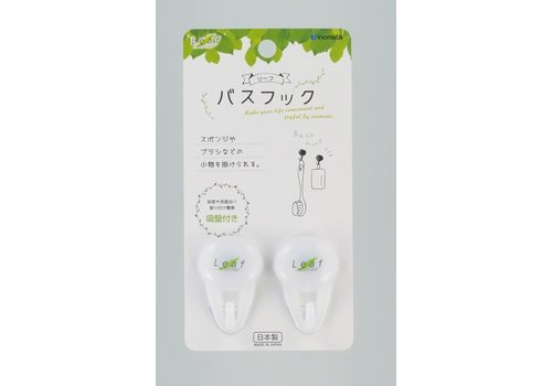 ?PLASTIC BATH HOOK W/SUCTION-LEAF(WHITE)