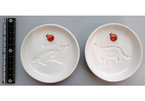 Animal soy sauce dish cat heart ・ cat a musical note