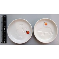 Animal soy sauce dish white bear penguin