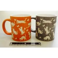 Cats and butterflies mug