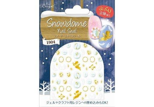 Snow dome nail seal angel