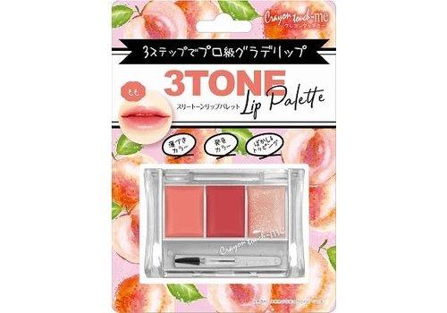 3-tone lip palette peach