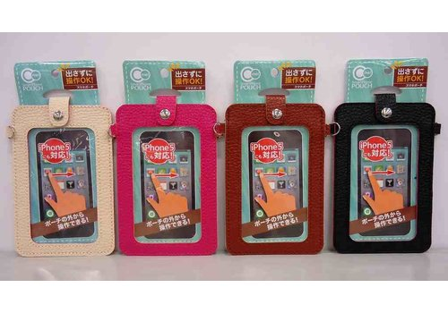 Smart phone pouch with window