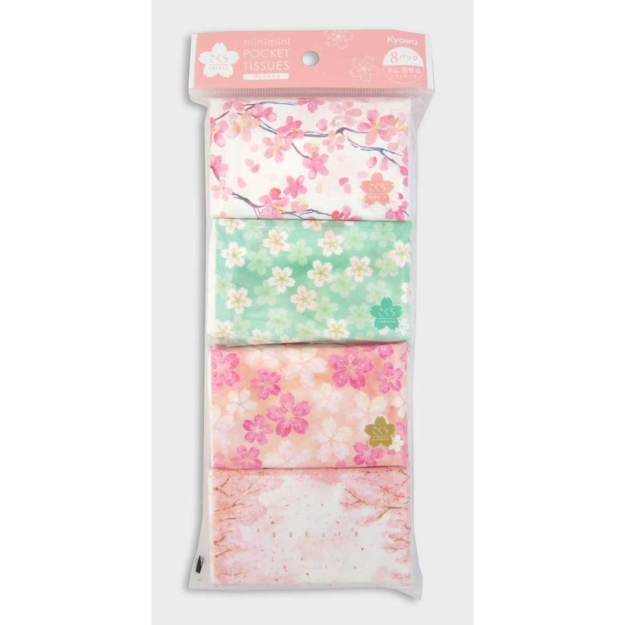 Mini pocket tissue sakura 8P-1